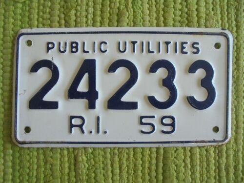 1959 Rhode Island PUBLIC UTILITIES License Plate 59 RI Tag 24233
