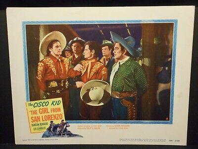 The Cisco Kid Girl From San Lorenzo 1950 Lobby Card Duncan Renaldo David Sharpe