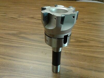 3 90 Degree Indexable Face Shell Millface Milling Cutter Apkt W.r8 Arbor