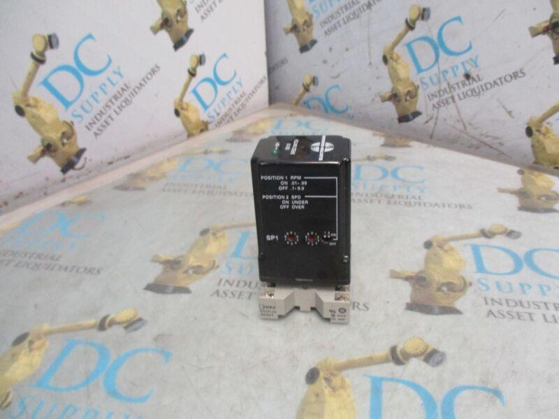 ELECTRO-SENSOR J048537-07 SS110  115 VAC 50/60 HZ  24 VDC 5 A SPEED SWITCH