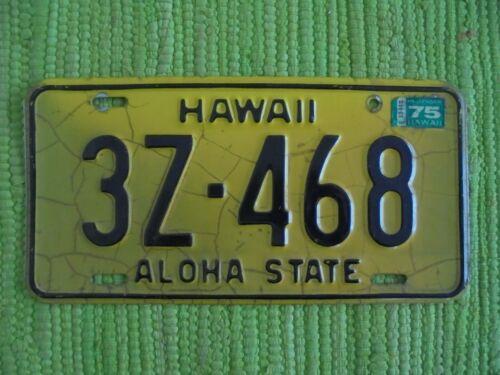 69-75 Hawaii License Plate HI 69 70 71 72 73 74 75 Tag Aloha State 3Z-468