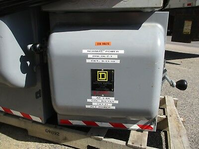 Square D 92453 4 Pole 100 Amp 240 Volt Double Throw Safety Switch- Ats298