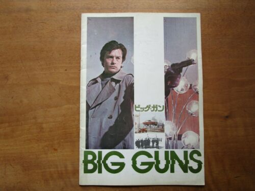 "Film ""Big Guns"" Duccio Tessari Alain Delon Movie Program Japanese ver F/S"