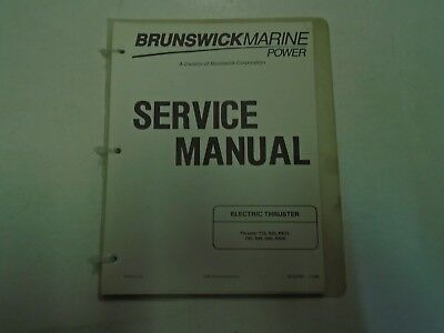 Brunswick Marine Power Service Manual Electric Thruster Model T33•R33•RX33•T45