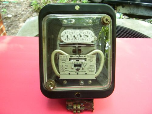 Rare Find antique vintage Westinghouse,  polyphase  electric watthour meter  :