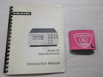 Wavetek Model 52 Data Multimeter Introduction Manual