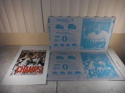 Sun Times Chicago White Sox 2005 World Series Win Printing Plates Mlb Baseball