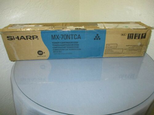 Genuine Sharp MX-70NTCA Cyan Toner New! Open Box