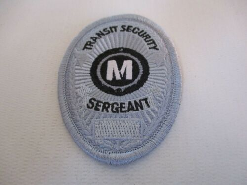Los Angeles CA County Metro Transit Security Sergeant Patch MTA