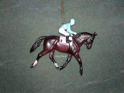 BREYER RACE HORSE CHRISTMAS ORNAMENT WITH BOX - ZENYATTA - KENTUCKY DERBY NIB