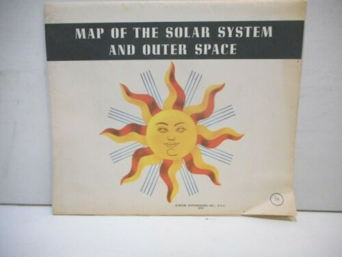 Map of the Solar System and Outer Space 1959 Book Enterprises Inc N.Y.C.