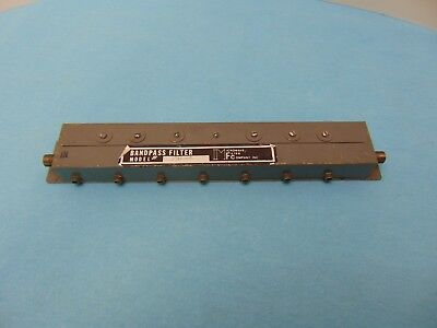 Microwave Filter Company 3303 Series Adjacent Channel Bandpass Filter
