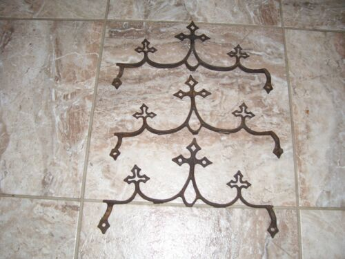 Vintage Antique cast iron Architectural Fence Topper (church/cemetery) n.d.