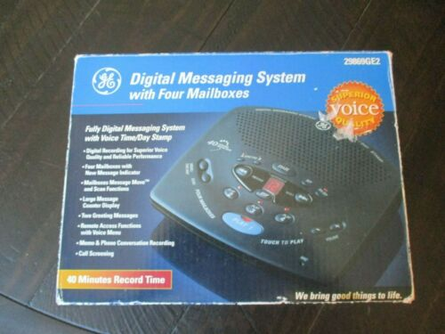 GE 29869GE2 Voice Time-Day Stamp Digital Voicemail Messaging System 4 Mailbox