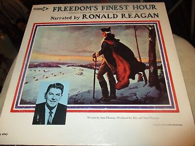 1967 Freedom's Finest Hour Narrated By RONALD REAGAN LP Decca DL 4943 NM/NM
