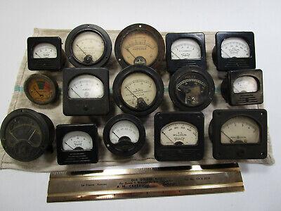 Vintage Voltage Amp Meters Gauges Dials Steampunk Industrial Salvage Lot Of 15