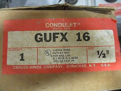Crouse Hinds Gufx16 12 Outlet Box For Hazardous Location- New