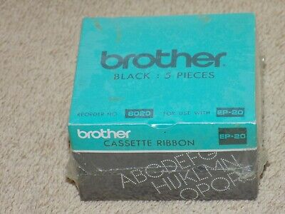 Brother 6020 Cassette Ep-20 Refill Black Ink Ribbons Lot Of 5 New Cartridges