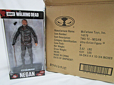 Case Of 8 Negan 7 Inch Action Figure Walking Dead Tv New Sealed
