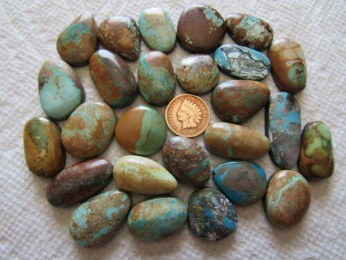 26 Ribbon Boulder Turquoise Cabs 500 carat Cabochons Wholesale Lot
