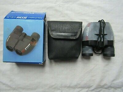 PRAKTICA ZOOM 6-12 X 23 ULTRA COMPACT SPORT BINOCULARS used / boxed / soft case