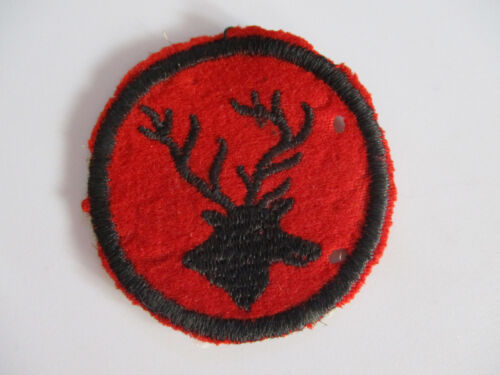 vintage 1940s BSA Patrol Totem Cut Edge Felt Medallion Mascot Patch