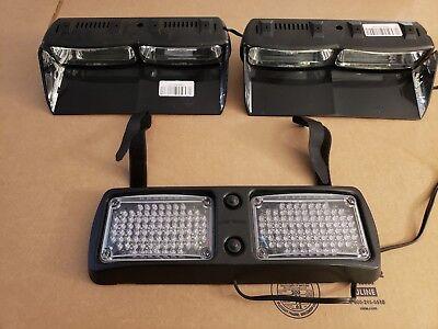 Whelen Talon Flatlighter Ultimate Dash Deck Visor Led Light Bundle Clear Lenses