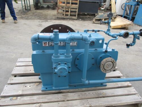 PHILADELPHIA MDL 80MHPS-2 GEAR REDUCER 78 H.P. GEAR REDUCTION BOX 5K-350 RPM