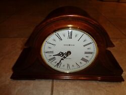 Howard Miller Burton II Quartz Mantel Clock 635-107 Dual Chime Windsor Cherry