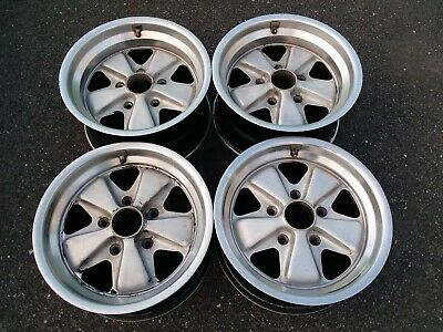 "15"" Porsche FUCHS wheels rims OEM 7 & 8, 911.361.020.41 & 911.361.020.42 - bent"