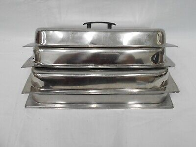 Steam Table Pan Dome Cover Stainless Steel Full Size 4 Covers