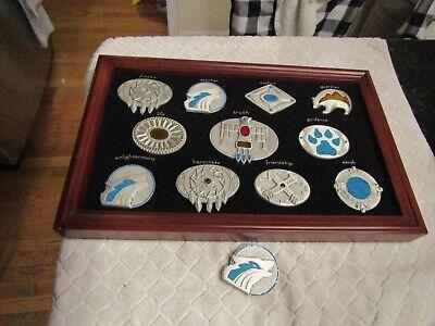 Bradford Exchange Native American Indian Symbols Belt Buckle Set w Display Case