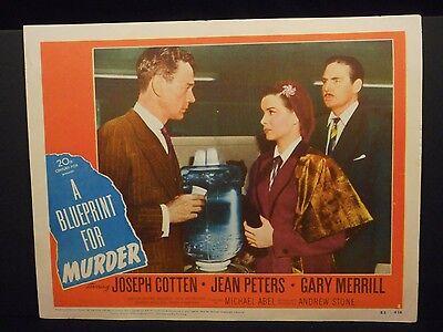 A Blueprint For Murder Joseph Cotten 1953 orig Lobby Card # 2 Fine Film Noir