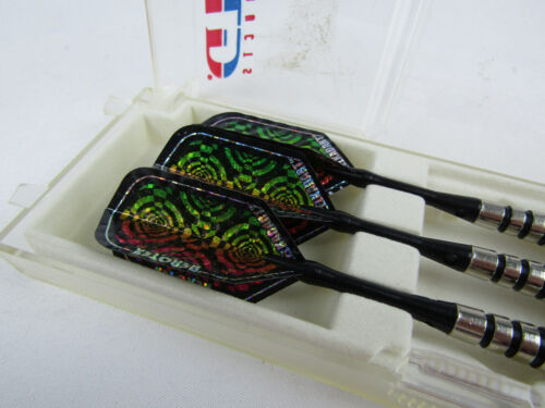 Silver Thunder Soft Tip Darts in plastic CASE / BOX - GLD PRODUCTS Holographic