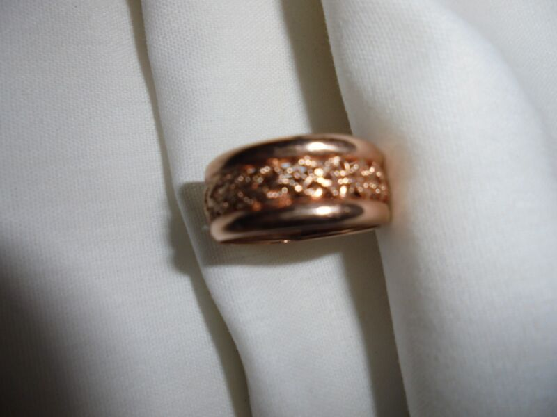 10kt rose gold band ring