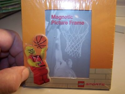NEW OFFICIAL  LEGO SPORTS BASKETBALL  4X4 MAGNETIC  PICTURE FRAME - REFRIG ETC Orange Magnetic Frame