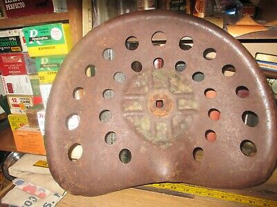 Steel Farm Implement Seat Tractor Early 1900s Original 14 X 17 26 Hole