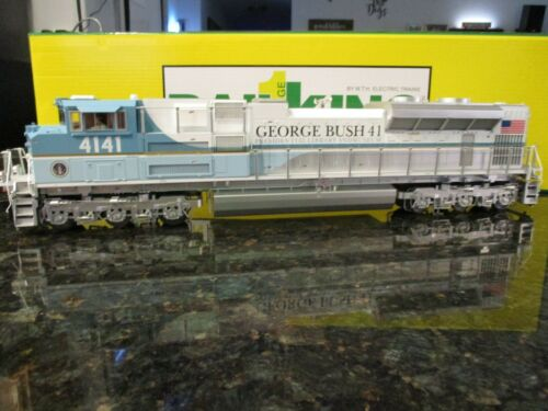 MTH RAILKING G SCALE LOCOMOTIVE -  SD70ACe ENGINE W/PS3 - GEORGE BUSH #4141-NEW!