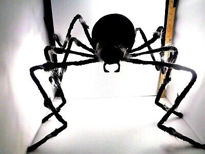 Halloween Decoration large Outdoor Hairy Black White Spider NEW Poseable 4