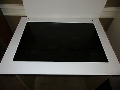 NEW Kitchen Aid Door Glass - White W10582013 SATISF GUAR & Free Expd Ship