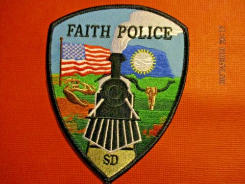 Collectible South Dakota Police Patch,Faith,New