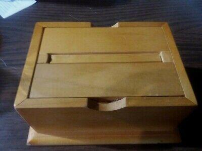 NEW Wood Cigarette Box Surprise & Delight Magic Wooden Dispenser -Directions/Box