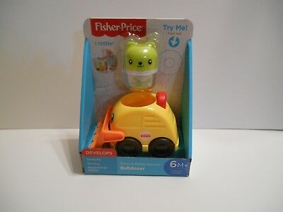 NIB Fisher Price Press & Rattle Racers Bulldozer 6m+ Doggy Pal Rattle FP