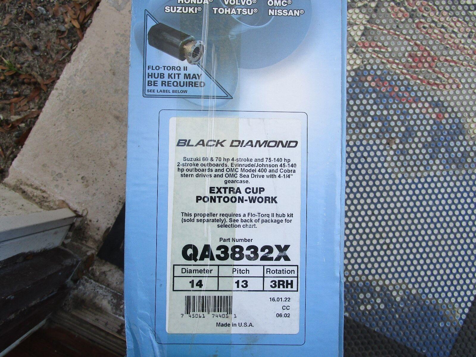QA3832X Black Diamond Quicksilver aluminum propeller