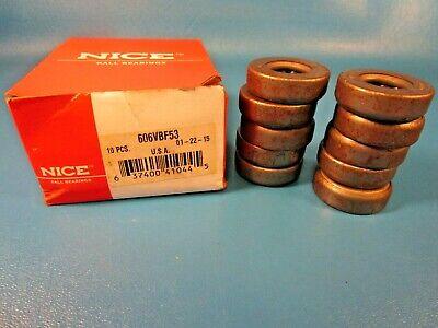 Lot Of 10 Nice 606vbf53 Ball Thrust Bearings-single Direction Banded Usa