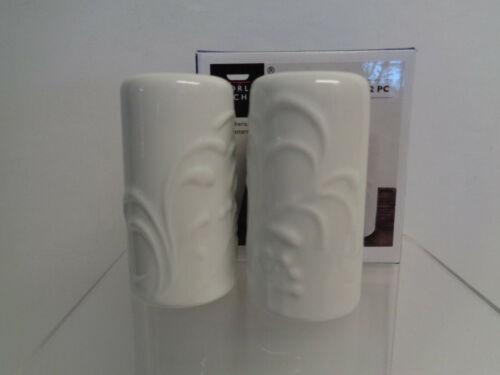 Corelle Coordinates Boutique Cherish Porcelain Embossed Salt and Pepper Shakers