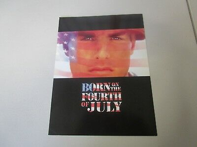 MOVIE PREMIERE PROGRAM  BORN ON THE FOURTH OF JULY  CASTING CARD    VTG