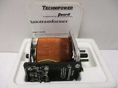 Vtg Technipower Variac Adjustable Autotransformer Pn 3010-5110 W2 Nib