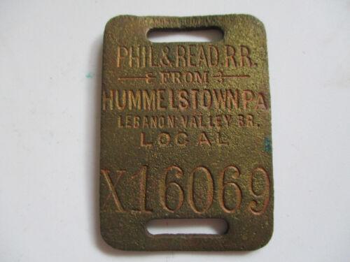 vintage PHIL & READ Pennsylvania Railroad Baggage Train Luggage Tag