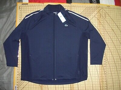 MENS 9/4XL BLUE LACOSTE LIGHT ZIP UP REFLECTIVE ACCENTS SWEAT JACKET - NWT